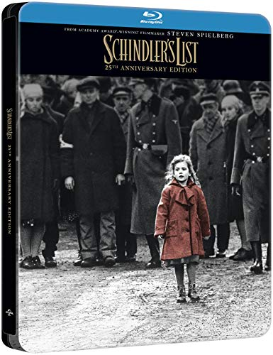 Schindlers List 4K Ultra HD 25th Anniversary Edition Steelbook / Import / 3-Disc Set / Includes Region Free Blu Ray