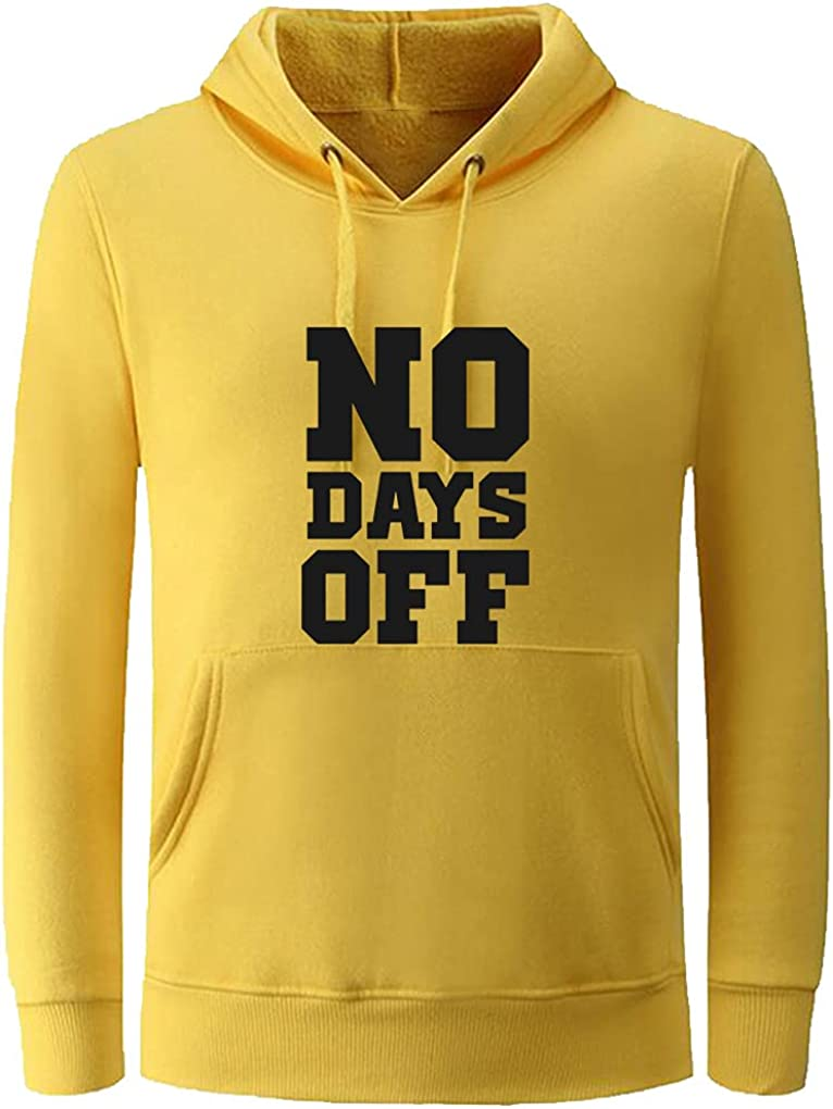 Unisex Clothes No Days Off Funny Casual Pullover
