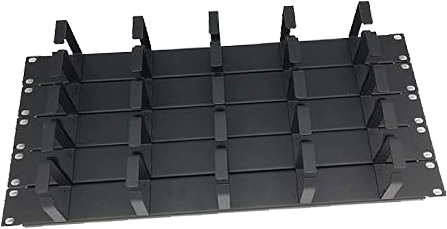 5 Pack 1U Metal 19 Inch Horizontal Rack Mount 5 D-Ring Cable Manager for Server Rack or Cabinet.