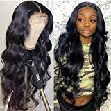 Body Wave 13x4 Lace Front Wig 180% Density Unprocessed Brazilian Human Hair For Black Women Pre Plucked Natural Deep Part Hairline With Baby Hair Wigs SuperNova Hair 20 inch
