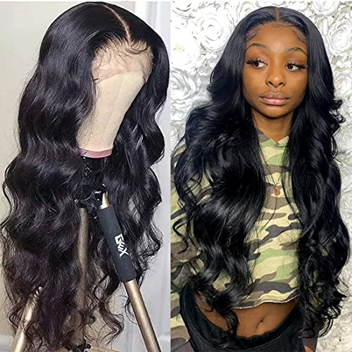 Body Wave 13x4 Lace Front Wig 180% Density Unprocessed Brazilian Human Hair For Black Women Pre Plucked Natural Deep Part Hairline With Baby Hair Wigs SuperNova Hair 18 inch