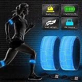 Vivibel LED Armband Aufladbar, 2 Stück Leuchtband mit...