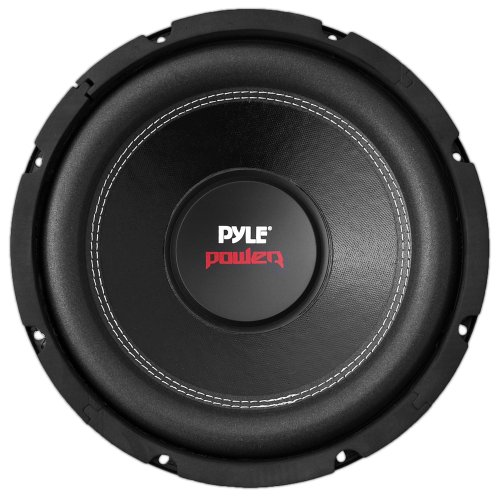 12' Car Audio Speaker Subwoofer - 1600 Watt High Power Bass Surround Sound Stereo Subwoofer Speaker System - Non Press Paper Cone, 90 dB, 40 Ohm, 60 oz Magnet, 2 Inch 4 Layer Voice Coil - Pyle PLPW12D,Black