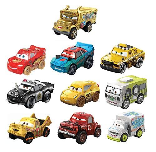 Disney Cars Mini Racers Derby Racers Pack de 10 coches de ju