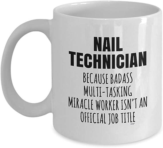 Personalised Gift Nail Technician Mug Cup Birthday Christmas Name Text Him Her