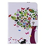 Yiizy Case for Kindle White Paper 1 2 3 4 Case, Color Tree Leather Slim Fit Standing Protective Cover ID & Credit Card Slots Pockets Magnetic Strap Wallet Pouch Flip Cover Case