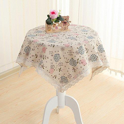 Coton et lin Multifonction Multi-taille Nappes sont utilisés pour les tables de différentes tailles et types et réfrigérateurs machine à laver Table de chevet TV serviette , 80*80cm