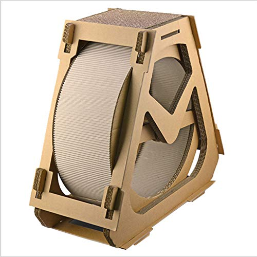 Corrugated Paper cat Scratch Board cat Exercise Wheel Wheel cat Tree House Running cat Running with Rotating Toy cat Indoor Activity Center Big,L