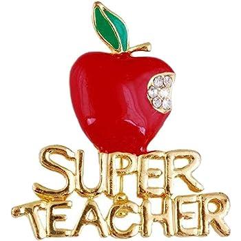 Westmon Works Special Teacher Lapel Pin and Prayer Card Keepsake Metal Apple Emblem