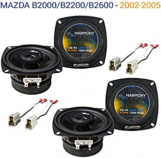 Compatible with Mazda B2000/B2200/B2600 86-93 OEM Speaker Replacement Harmony (2) R4 Package