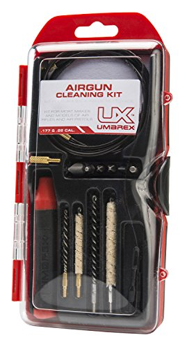 Umarex .177 and .22 Caliber Air Gun Cleaning Kit - Includes Cleaning Rod, Brushes, Mops, Cleaning Pellets, and Driver Set, Black