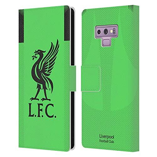 Head Case Designs Licenciado Oficialmente Liverpool Football Club Portero visitante Kit 2019/20 Carcasa de Cuero Tipo Libro Compatible con Samsung Galaxy Note9 / Note 9