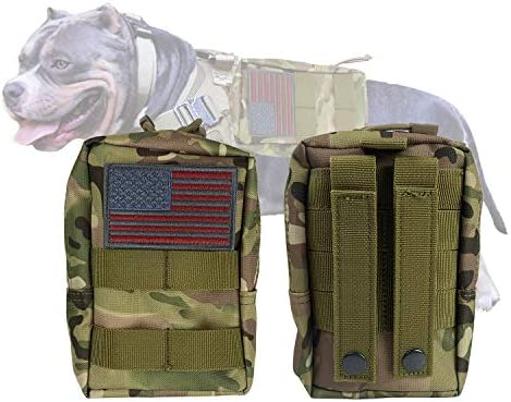 Tactical Molle Pouches Multi Purpose Military Nylon Waist Pack Utility Bag Detachable Patches product image