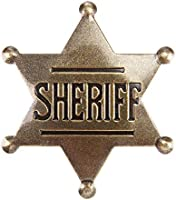 Sheriff Badge, Toy Sheriff Badge for Kids, Metal, Western Sheriff Badge, US-AKI-014