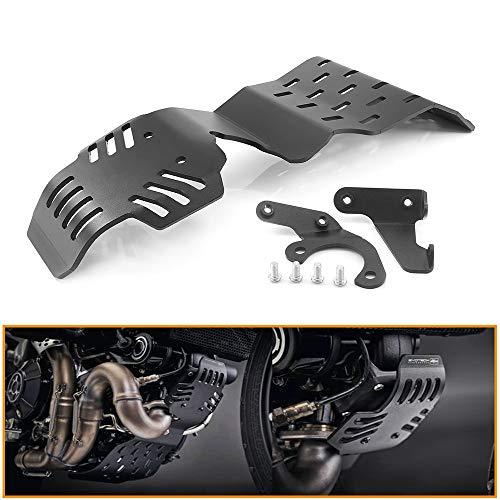 Heinmo Motorrad Edelstahl-Unterfahrschutz Motorschutzabdeckung Schutz für DUCA TI Scrambler 800 Icon Urban Enduro Classic Track Pro 2015-2020