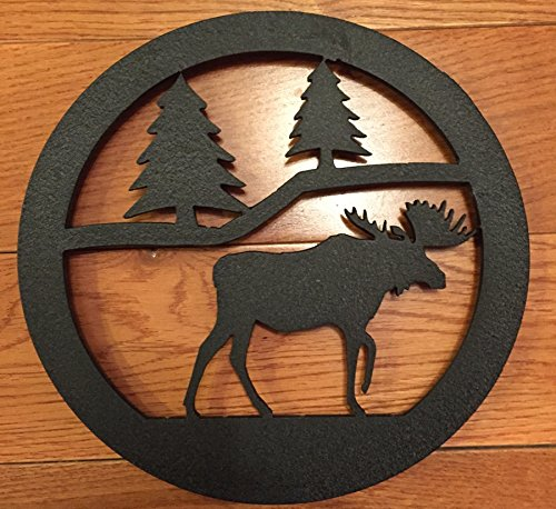 Made in USA Moose Themed Steel Trivet