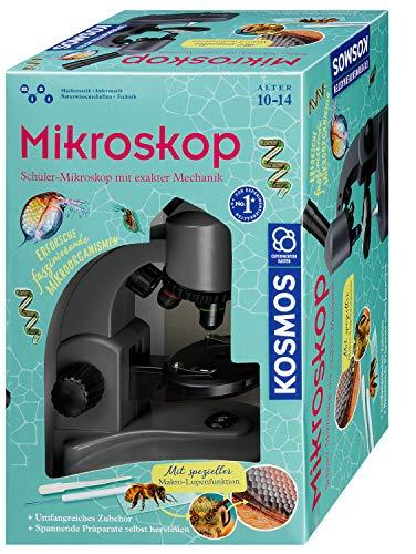 Kosmos 636098 Mikroskop Experimentierkasten für Kinder, White