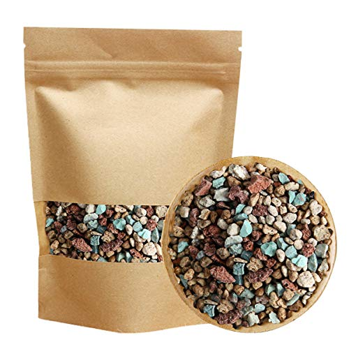 Mix Horticultural Lava Rock Pebbles Pumice Potting Soil Amendment Succulent Cactus Bonsai Gritty Rocks Decorative Gravel Plant Drainage Volcanic Rock for Terrarium Fairy Gardening Top Dressing 2.2lb