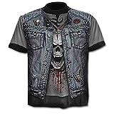 heavy metal rock tee shirts Spedizione veloce T-Shirt Teschio - Maglia Rock - Metal - Musica - Gotico - Maglietta - 3D - Maniche Corte - Uomo - Donna - Unisex - Divertenti - Idea Regalo - Cosplay - Travestimento- Taglia L - C01