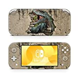 Switch Lite Skin Decal Stickers by ZOOMHITSKINS, Same Decal Quality for Cars, Dinosaur Jungle T red Grey Stone Animal Cartoon, High Quality, Durable, Bubble-free, Goo-free, Made in USA