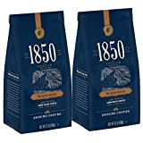 1850 Black Gold, Dark Roast Ground Coffee, 12 Ounces (Pack of 2)