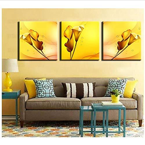N/A woonkamer wanddecoratie kantoordecoratie canvas schilderij vouwlout wanddruk voor wooncultuur ideeën kleuren schilderijen kunst 40x40cmx3 oningelijst