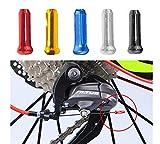 CaLeQi Tapones para cables de bicicleta, aleación de aluminio, tapas de línea de freno, cable de freno, para cambio de bicicleta, aleación de carretera, puntas de freno, 100 unidades