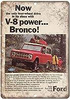 Ford Bronco V8 MonoBeam Suspension ティンサイン ポスター ン サイン プレート ブリキ看板 ホーム バーために
