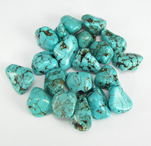 3 Turquoise Tumbled Stones Gemstones Crystals Healing Rocks Wiccan Supplies