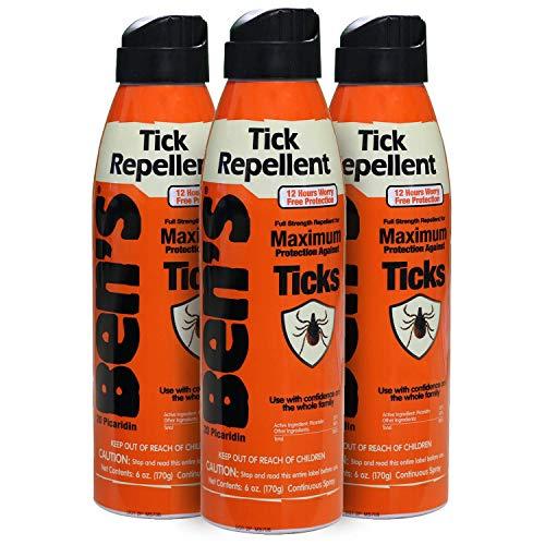Ben's Tick Repellent Spray 6 oz (Pack of 3)