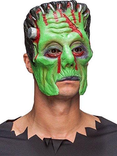 Party Mask Half Frankenstein Vert Masque Halloween Monstre Carnaval Thème Adulte