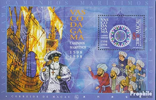 Prophila Collection Macau Block54I (kompl.Ausg.) 1998 Seeweg nach Indien (Briefmarken für Sammler) Seefahrt