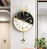 WEILAN luz decoración de Lujo Reloj nórdico hogar Moda Personalidad Creativa Arte Pared Moderno Reloj Minimalista