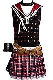 Cosplaysky Final Fantasy XV 15 Costume Iris Amicitia Dress X-Small Red