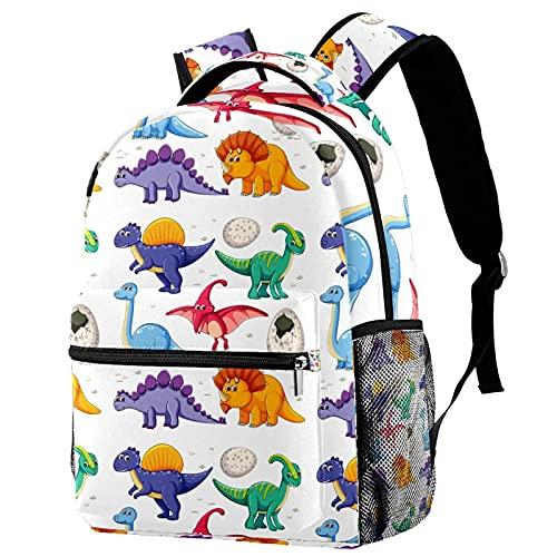 Mochilas casuales para niños, mochila escolar espacial para adolescentes, niñas, niños, dinosaurio, bolsa de libro con soporte para botella