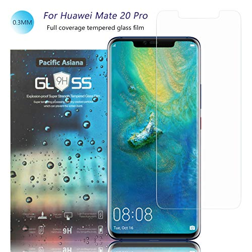 Preisvergleich Produktbild Pacific Asiana Displayschutzfolie für Huawei Mate 20 Pro / LYA-L29 / LYA-L0C / LYA-L09 Ultra Thin HD Clear [9H Härtegrad] Kratzfest [blasenfrei ] stoßfest (2 Stück)