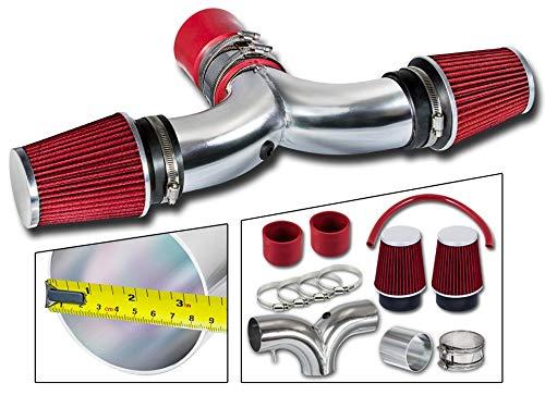 Rtunes Racing Short Ram Air Intake Kit + Filter Combo RED For 03-08 Dodge Ram Hemi / 04-07 Dodge...