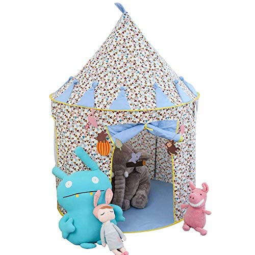 JINDEN Easy Set Up Ultralight Tent, Children's Household Toy Tent Indoor Princess Little Girl Oversized Game Mongolian Room Cotton Dream Small Palace Castle Game House Portable Castle Tents Gifts