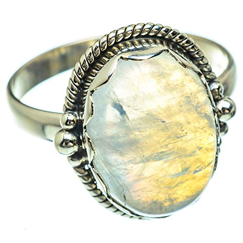 Ana Silver Co Rainbow Moonstone Ring Size Z 1/2 (925 Sterling Silver)