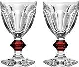 Baccara Cristal Harcourt Rouge Bouton de verre à eau