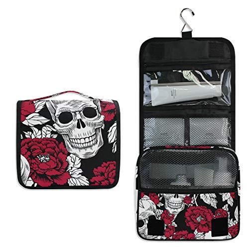 Bolsa de aseo de viaje para colgar – Escamas de sirena, bolsa de maquillaje cosmética de pescado, organizador para mujeres y niñas impermeable