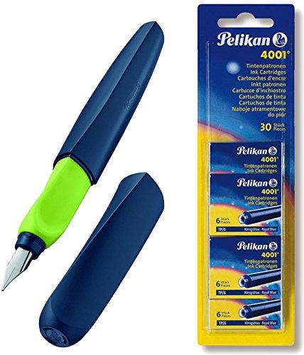Pelikan, penna stilografica, Twist M Apple-Blau | [ Patronen Set ]