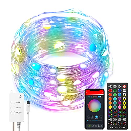 LED String Lights RGBIC Dreamcolor, WiFi&Bluetooth Amazon Echo Google Home...