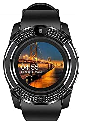 TIRUMI V8 Sports Bluetooth Smart Watch with Camera and Sim Card