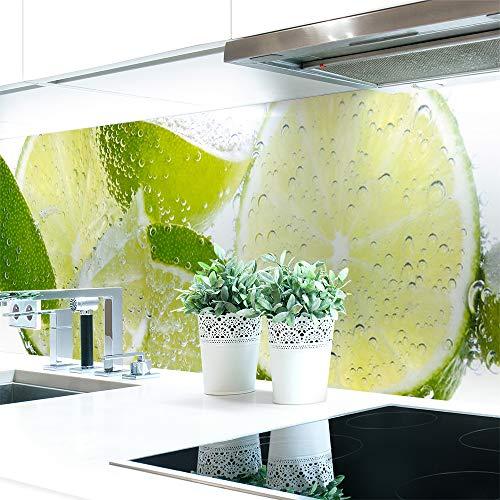 Panel para cocina Fresh Lemon de PVC duro prémium, 0,4 mm, autoadhesivo, directamente sobre los azulejos, tamaño: muestra de material A4