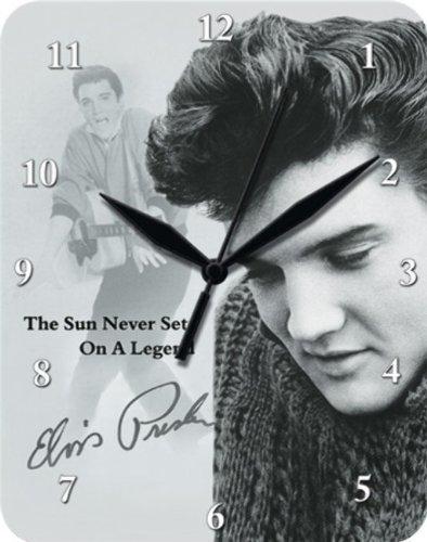 Elvis Presley Sun Blech Wanduhr Stabil NEU 26x20cm U580