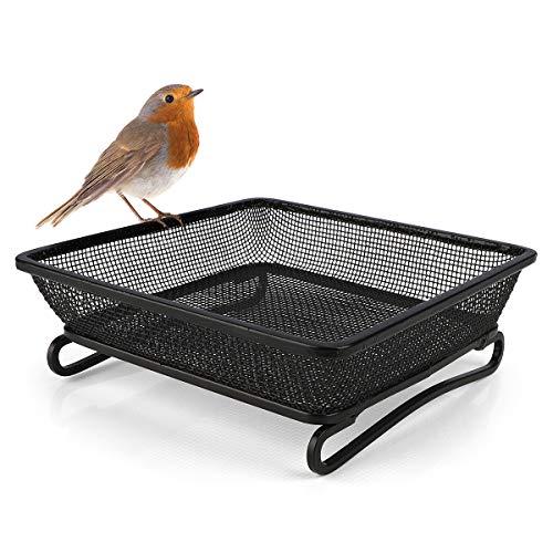 WILDLIFE FRIEND | Futterschale Metall für Bodenfütterung - Bodenfutterstation für Vögel, Futterstation Futtertisch für Wildvögel Fütterung