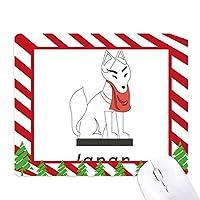 地元の有名なフォックス ゴムクリスマスキャンディマウスパッド