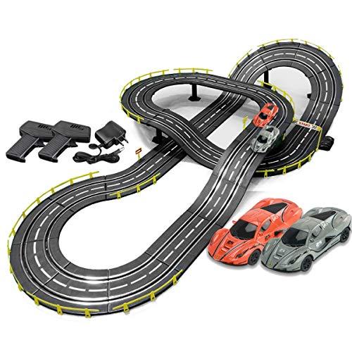 Pistas De Carreras 5M Rail Slot Car Electric R / C High Speed Control Remote Racing Vehicle Playsets Play Peach Toy Toy Birthday Regalos Y Favores De Fiesta ( Color : Electric , Size : 2 cars )