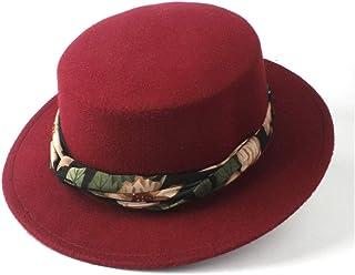Outing Hat حجم 56-5. 8CM. أزياء الرجال النساء شقة أعلى فيدورا قبعة مع الشريط واسعة بريم الكنيسة الكنيسة قبعة الصوف trilby ...